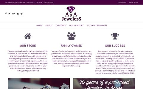 Screenshot of About Page aajewelersinc.com - About Us – A&A Jewelers - captured July 23, 2018