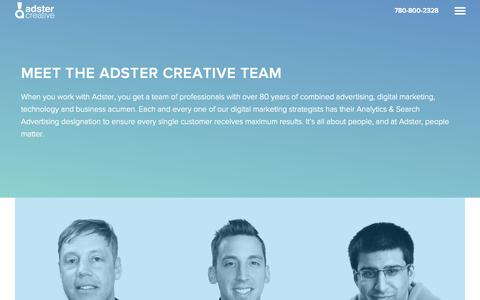 Screenshot of Team Page adster.ca - Meet The Adster Creative Team | SEO & PPC Company - captured Oct. 2, 2015