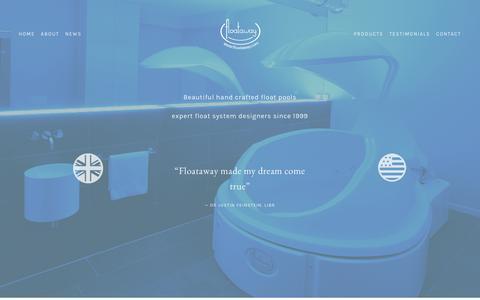 Screenshot of Home Page floataway.com - Floataway - captured June 6, 2017
