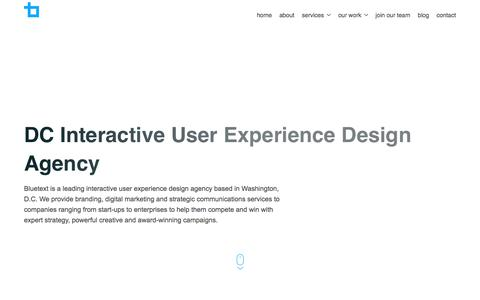 Washington DC Interactive User Experience Design Agency | Bluetext