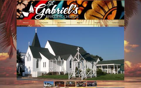 Screenshot of Home Page stgabriels.church - St. Gabriel's Episcopal Church - captured March 11, 2016