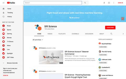 Sift Science - YouTube - YouTube