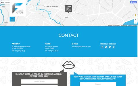 Screenshot of Contact Page agence-future.com - Contactez  votre agence web et votre agence de communication à Annecy | Agence Future - captured Nov. 19, 2016