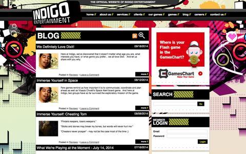 Screenshot of Blog indigo-entertainment.com - Indigo-Entertainment - Blog - captured Jan. 8, 2016