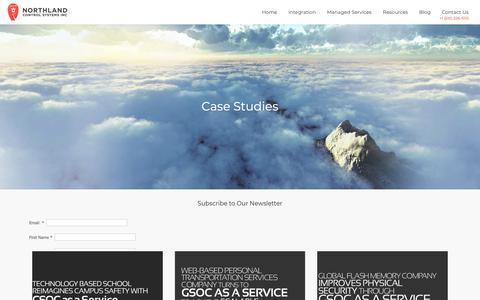 Screenshot of Case Studies Page northlandcontrols.com - Case Studies | Northland Controls - captured Oct. 18, 2018