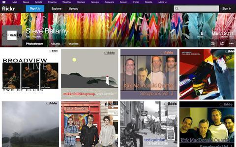 Screenshot of Flickr Page flickr.com - Flickr: Addo Records' Photostream - captured Oct. 23, 2014