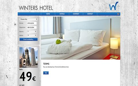 Screenshot of Terms Page winters.de - Winters Hotel Company   Kontakt - captured Oct. 7, 2014