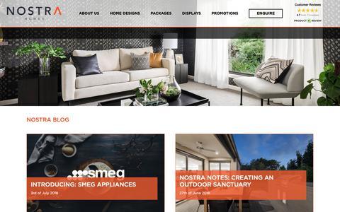 Screenshot of Blog nostrahomes.com.au - Blog | Nostra Homes - The Aspire Estate - captured Oct. 19, 2018