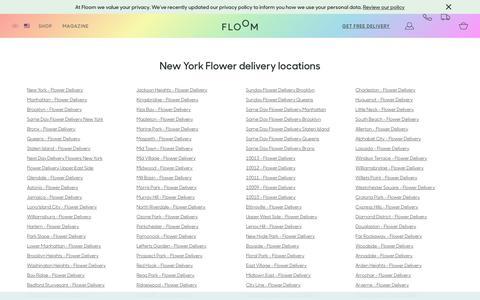 Screenshot of Locations Page floom.com - Order Flowers Online New York | Same Day Delivery | Floom - captured July 2, 2018
