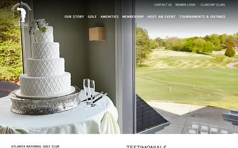 Screenshot of Testimonials Page clubcorp.com - Testimonials | Atlanta National Golf Club - captured July 31, 2018