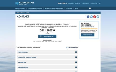 Screenshot of Contact Page ncl.com - Kontakt -de- - captured Dec. 4, 2016