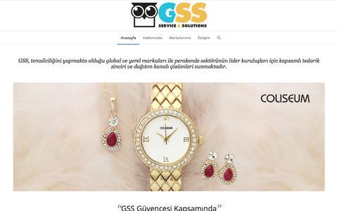 Screenshot of Home Page gsscommerce.com - GSS Commerce | - captured Oct. 18, 2016