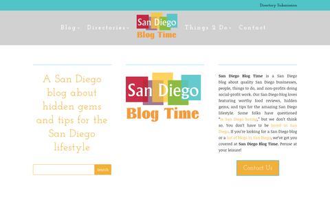 Screenshot of Home Page san-diego-culture.com - San Diego Blog Time | A San Diego blog for locals - captured Oct. 13, 2017