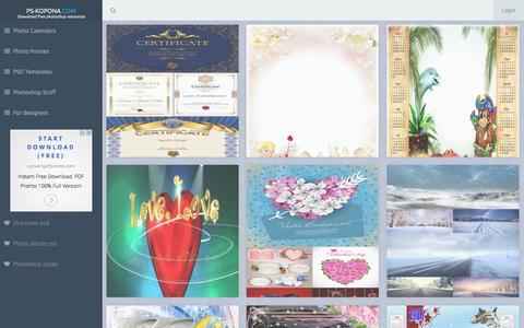 Screenshot of Home Page photoshop-kopona.com - photoshop-kopona.com - captured Jan. 14, 2016