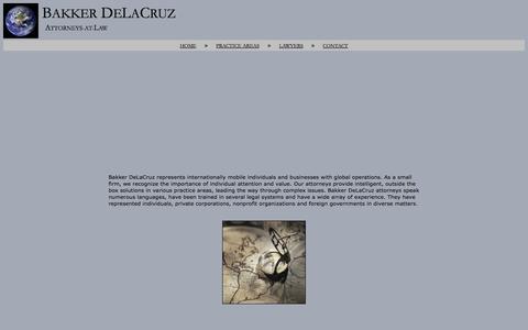 Screenshot of About Page bakkerdelacruz.com - About - captured Oct. 5, 2014