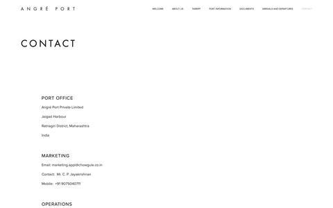 Screenshot of Contact Page squarespace.com - Contact — Angré Port - captured Oct. 28, 2018