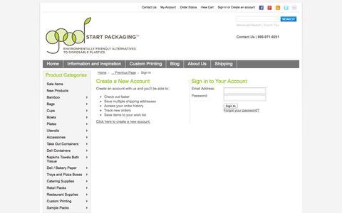 Screenshot of Login Page goodstartpackaging.com - Good Start Packaging - Sign in - captured Sept. 30, 2014