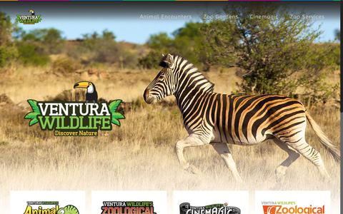 Screenshot of Home Page venturawildlife.co.uk - Ventura Wildlife – Home of Ventura Wildlife's Zoological Gardens, Animal Encounters, International Animal Transport & Zoo Consultancy and Animals for Film - captured Oct. 20, 2017