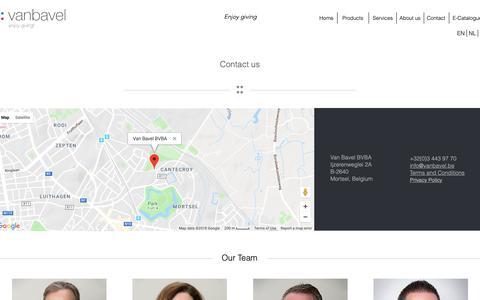 Screenshot of Contact Page vanbavel.be - Contact   Van Bavel - captured Oct. 18, 2018