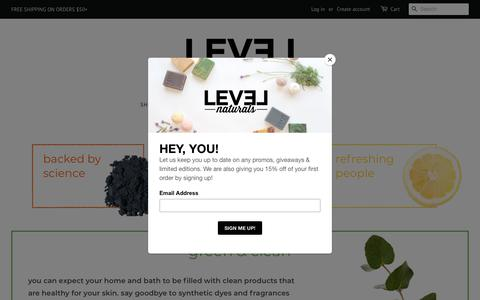 Screenshot of About Page levelnaturals.com - our factory – Level Naturals - captured July 18, 2018