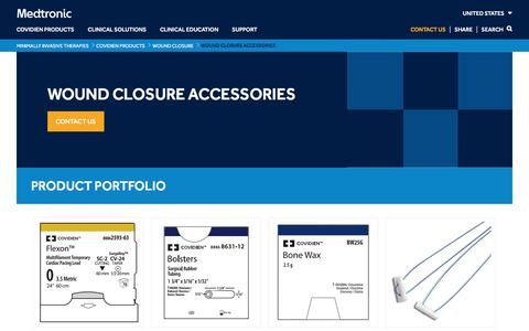 Wound Closure Accessories   Medtronic
