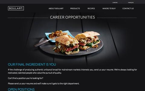 Screenshot of Jobs Page boulart.com - Career Opportunities | Boulart - captured Sept. 30, 2014