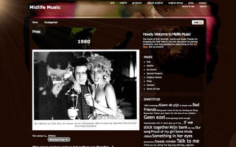 Screenshot of Press Page midlifemusic.nl - Press | Midlife Music - captured Oct. 27, 2014