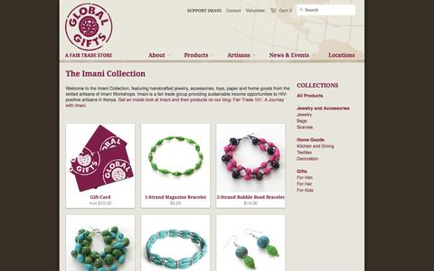 Screenshot of Products Page globalgiftsft.com - The Imani Collection - Global Gifts - captured Nov. 2, 2014