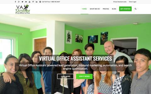 Screenshot of Home Page vastaffer.com - Virtual Office Assistant Services   VA Staffer - captured Oct. 1, 2015