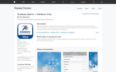 Academy Sports + Outdoors Visa on the App Store