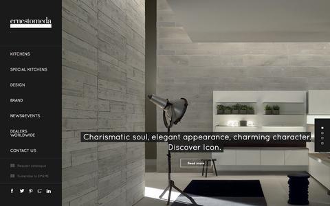 Screenshot of Home Page ernestomeda.com - Modern Kitchens Ernestomeda - The Italian Design Kitchens - captured Oct. 3, 2014