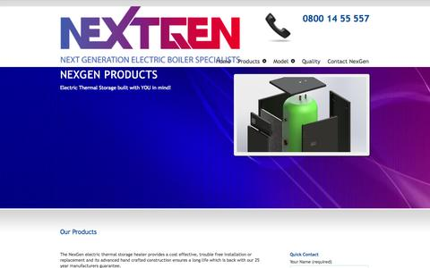 Screenshot of Products Page nexgenerationboilers.co.uk - Our Products - NexGeneration Boiler SpecilaistsNexGeneration Boiler Specilaists - captured Oct. 26, 2014