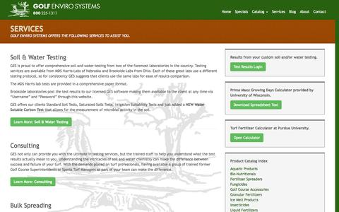 Screenshot of Services Page golfenviro.com - Services - Golf Enviro Systems, Inc. - captured Oct. 27, 2014