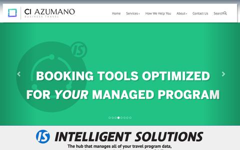 Screenshot of Home Page ciazumano.com - CI Azumano Business Travel :: Home - captured Feb. 6, 2016