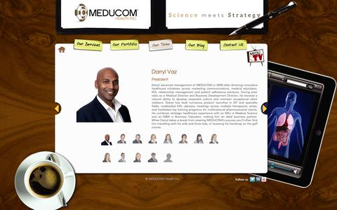 Screenshot of Team Page meducom.ca - Healthcare Communications | Pharmaceutical Marketing Professionals | Healthcare Agency | MEDUCOM Health Inc. - captured Oct. 3, 2014