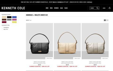 Handbags + Wallets Under $49 | Kenneth Cole