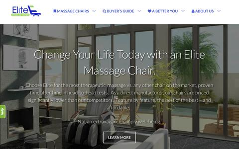Screenshot of Home Page elitemassagechairs.com - Best Massage Chairs in the Industry by Elite Massage Chairs - captured Jan. 26, 2015