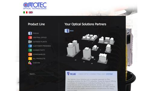 Screenshot of Products Page optotec.it - Optotec S.p.A. - Products - captured Oct. 7, 2014