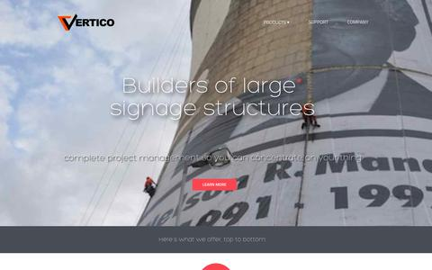 Screenshot of Home Page Blog vertico.co.za - Building wraps | Vertico - captured Sept. 30, 2014