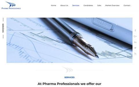 Screenshot of Services Page pharmaprofessionals.eu - Services – Pharma Professionals - captured Nov. 4, 2018