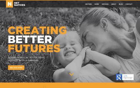 Screenshot of Home Page netnatives.com - Home | Net Natives - captured Oct. 1, 2014
