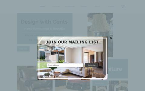 Screenshot of Home Page dwcaz.com - Resale | Consign | Surprise AZ | Furniture & Decor | Design with Cents - captured Oct. 12, 2017