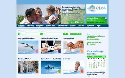 Screenshot of Home Page cbw-landshut.de - Christliches Bildungswerk Landshut:Startseite - captured June 9, 2016