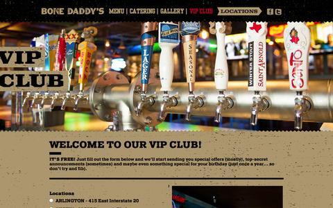 Screenshot of Signup Page bonedaddys.com - VIP Club - Bone Daddys - captured Nov. 3, 2014