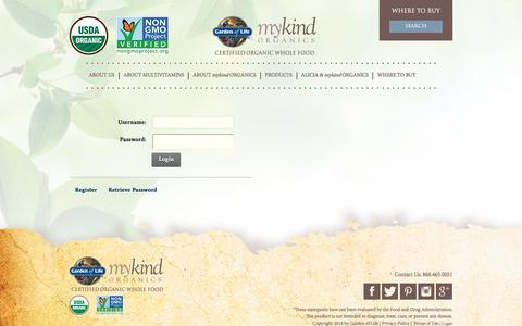 Screenshot of Login Page organicmulti.com - User Log In - captured Aug. 22, 2016