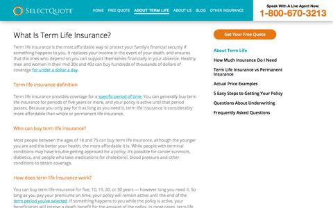 About Term Life Insurance - SelectQuote