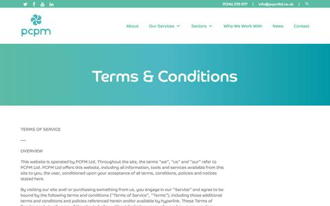 Screenshot of Terms Page pcpmltd.co.uk - Terms & Conditions - PCPM LTD - PCPM LTD - captured Sept. 27, 2018