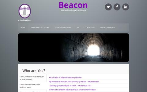 Screenshot of Home Page beaconllp.com - Home | Beacon - captured Jan. 24, 2015