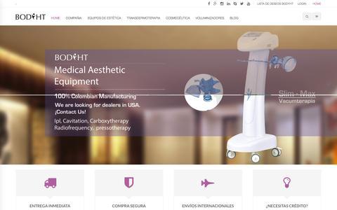 Screenshot of Home Page bodyht.com - Tienda en linea de equipos de estetica bodyht - captured Sept. 19, 2014