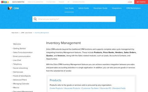Inventory Management | Online Help - Zoho CRM